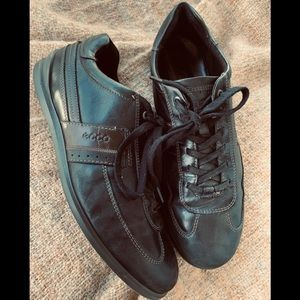 ECCO Leather Walking Shoes W Removable Insoles EUC